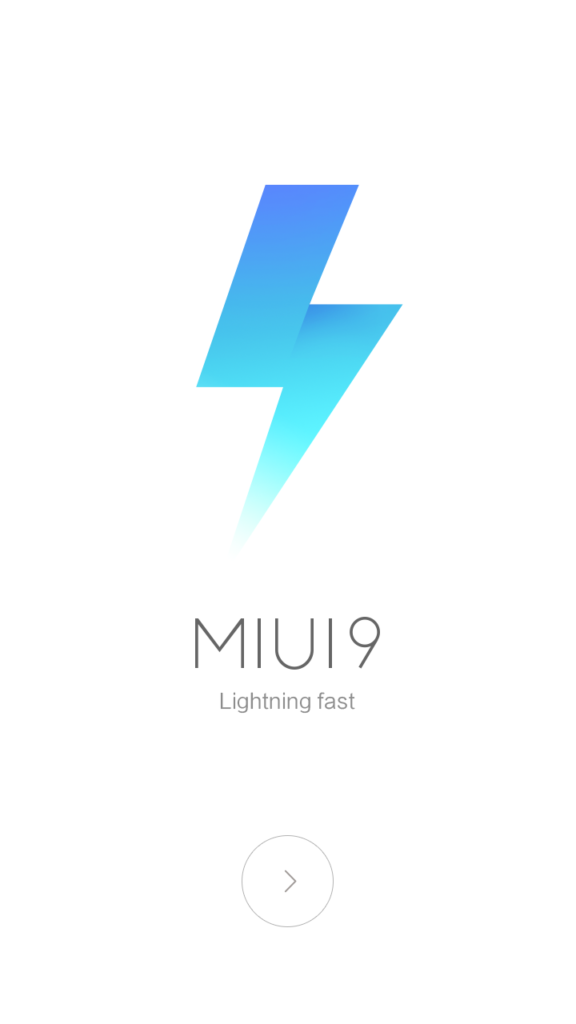 Logo MIUI 9 Lighting Fast