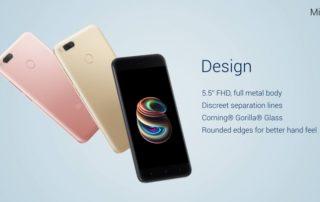 Xiaomi Mi A1 Wersje kolorystyczne