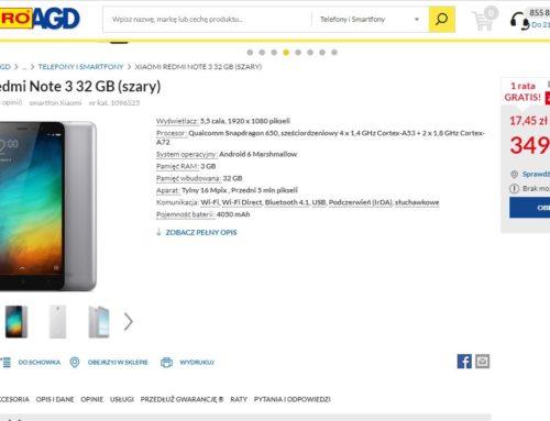 Redmi Note 3 za 349 zł ! Hiper Mega Promcja w Euro RTV AGD