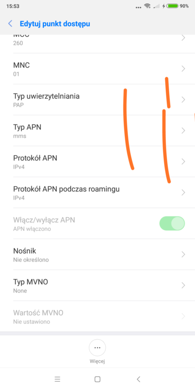 Ustawienia MMS Premium Mobile cz4