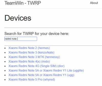 Redmi Note 4 TWRP ME